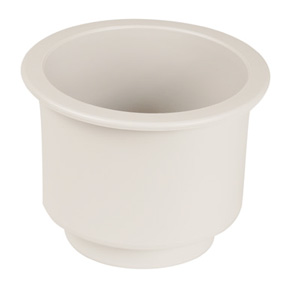 "DRINK HOLDER RECESSED PLASTIC WHITE 3 3/4""ID"
