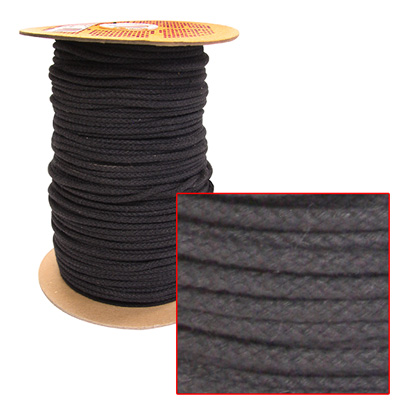 "TWINE PIEDMONT BLIND BLACK 1/8"" POLY BLEND"