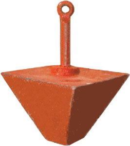 ANCHOR MOORING PYRAMID 100 LBS IMPORTED