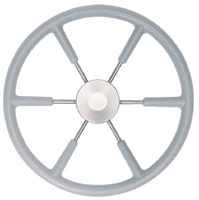 "STEERING WHEEL 17"" GREY COVERED S/S 3/4"" SHAFT"