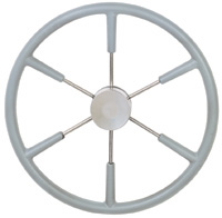 "STEERING WHEEL 21-1/8"" GREY COVERED S/S 3/4""SHFT"